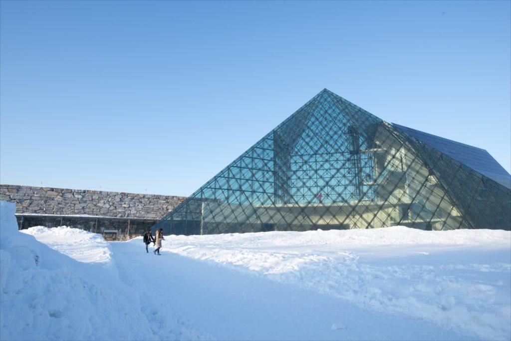 Winter Moerenuma Park (Glass Pyramid)