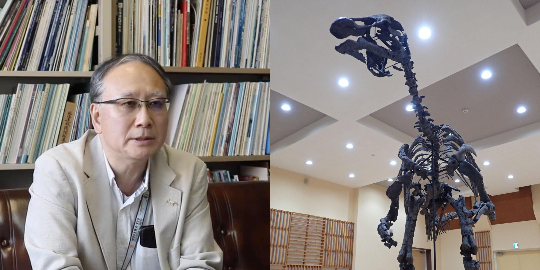 画像:Mukawa Dinosaur <span style='font-style:italic;'>Kamuysaurus japonicus</span> from Hobetsu,Mukawa town
