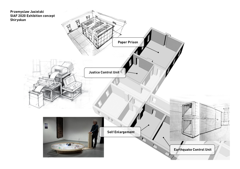 画像:<p>《Nonsense Technologies》<br /> 札幌市資料館2階南側4室を使った展示展開案</p>