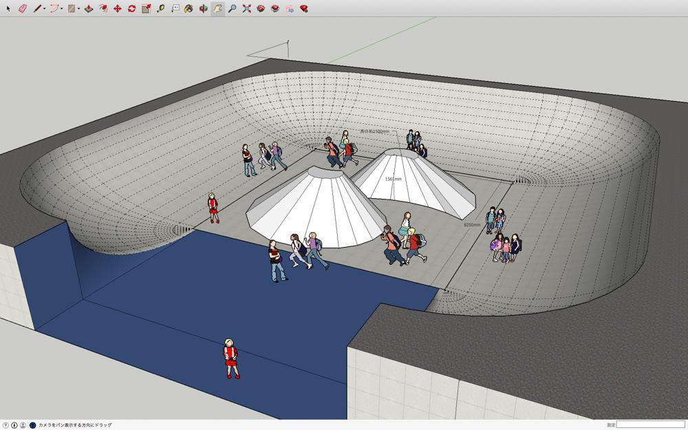 画像:<p>プレイグラウンドの3Dシミュレーション</p>
