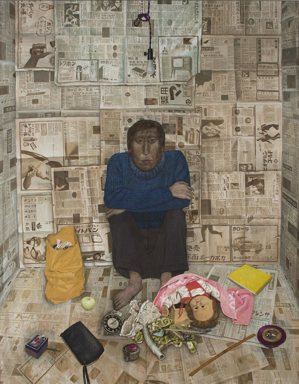 画像:<p>神田日勝《室内風景》(1970)北海道立近代美術館所蔵</p>